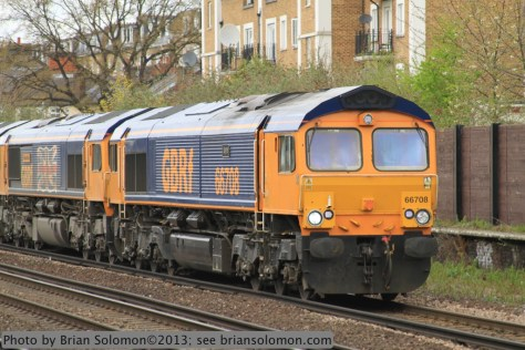 GB Railfreight locomotives.