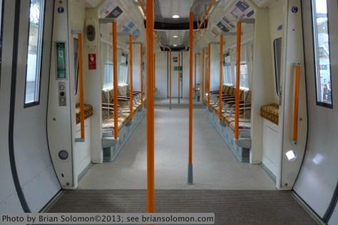 Train interior.