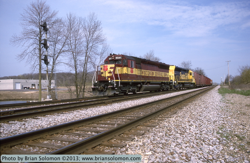 Wisconsin Central SD45s.