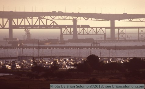 Martinez, California, as viewed from Carquinez Scenic Drive. Canon EOS 3 with 100-400 mm lens, Fujichrome slide film.