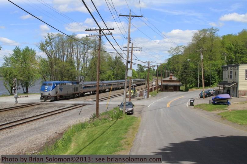 Amtrak along the Hudson River