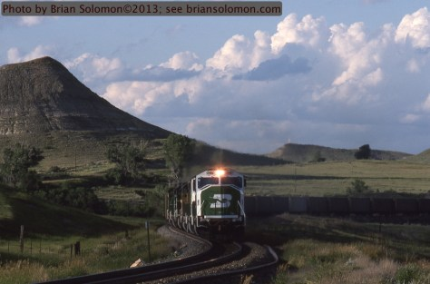 Empty coal train, North Dakota.