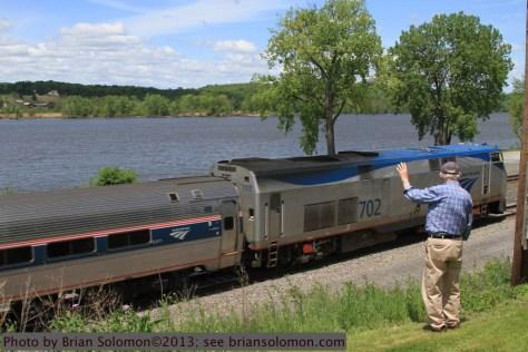 Amtrak along Hudson River.