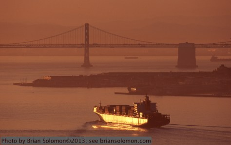 San Francisco Bay at sunrise.