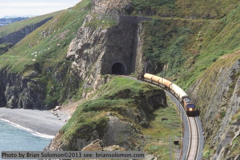 Train at Bray Head, Ireland