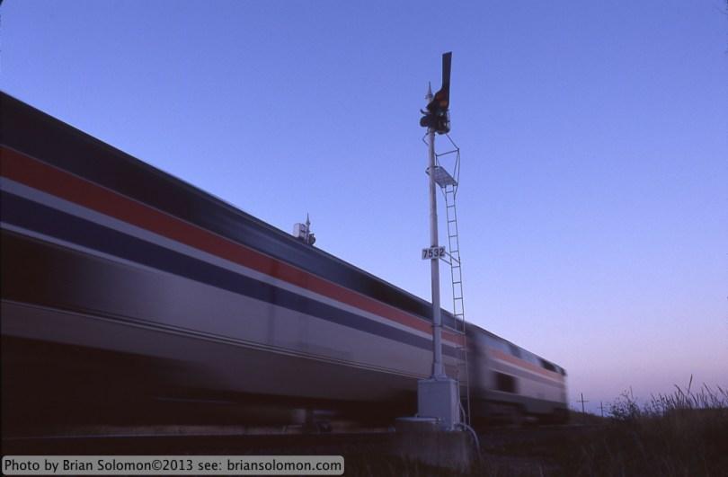 Amtrak with Semaphore