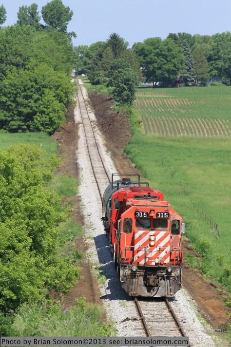 CP Rail near DeForest, Wisconsin.