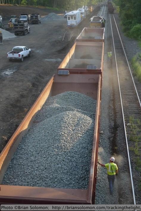 Ballast train at work.