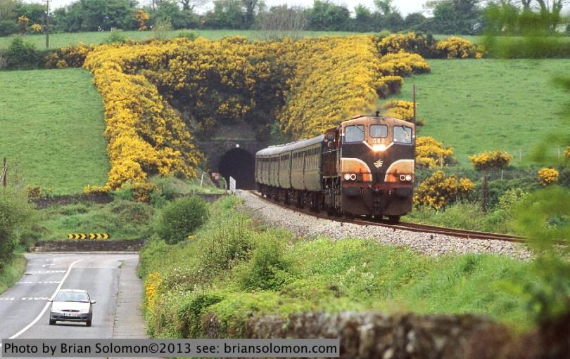 Railway excursion in Ireland.
