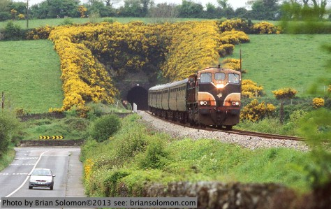 Railway excursion in Ireland.