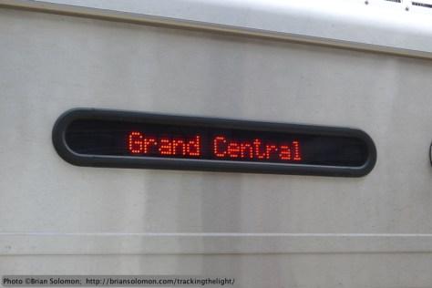 Train to Grand Central.