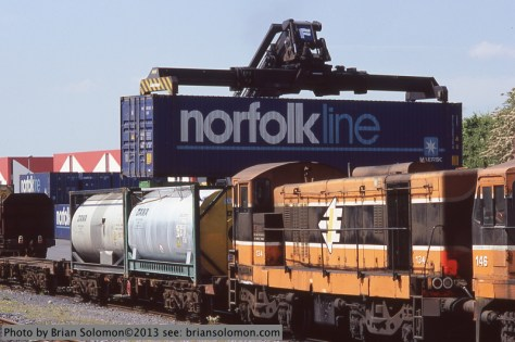 Irish Rail container train.