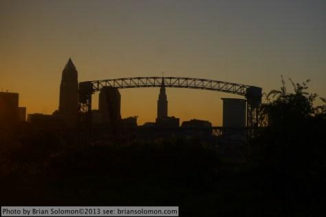 Cleveland, Ohio sunrise.