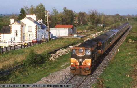 Irish Rail passenger train in Meath.