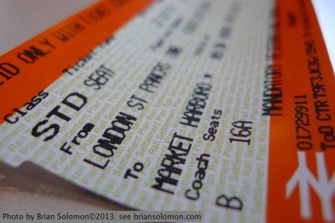 British Rail ticket