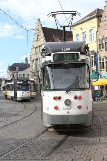 PCC cars in Gent.