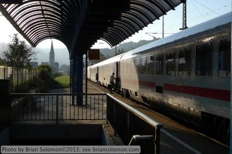 German passenger train at Boppard.
