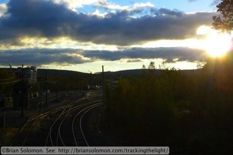 Railway yard.