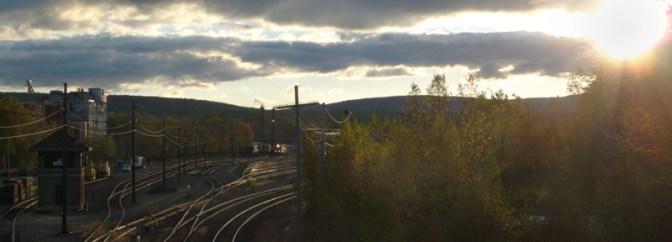Sunrise at East Deerfield Yard, October 18, 2013