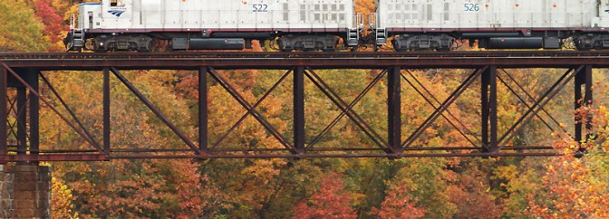 Amtrak Extra, Millers Falls, Massachusetts, October 22, 2013