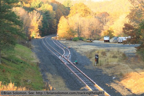 CSX's former Boston & Albany mainline at West Warren on Sunday October 20, 2013. Canon EOS 7D photo.