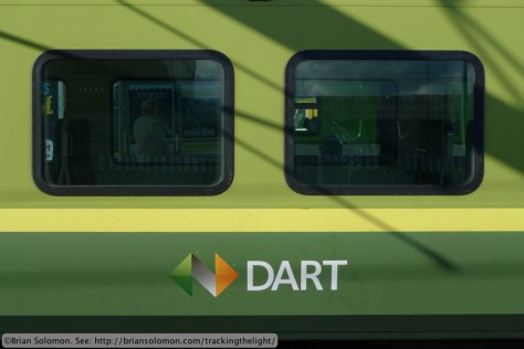 Irish Rail's DART at Connolly Station, Dublin, October 10, 2013. Lumix LX3 photo.