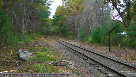 Massachusetts Central former Boston & Albany line on Ware Hill. October 2013. Lumix LX3 photo.