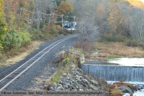 CSX's former Boston & Albany main line at West Warren, Massachusetts. Canon 7D with 200mm lens.
