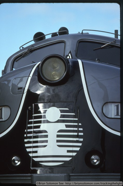 Illinois Central executive E unit on October 8, 1995. Kodachrome 25 slide exposed with a Nikon F3T with 105mm lens.
