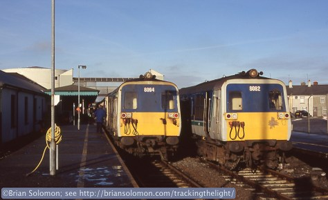 80 class railcars at Coleraine.