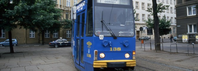 DAILY POST: A Tram Navigates the Streets of Poznan.