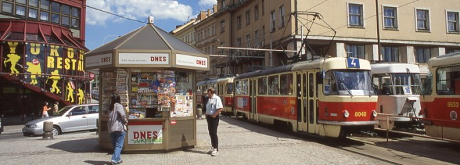 Daily Post: Trams in Prague, May 2000