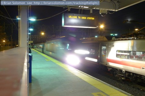 An HHP electric slides westward with train 175 in tow. How much longer will these powerful machines work the Northeast Corridor?