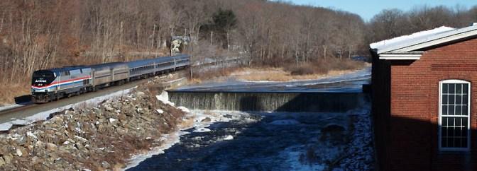DAILY POST: Amtrak Heritage P40 at West Warren, Massachusetts!