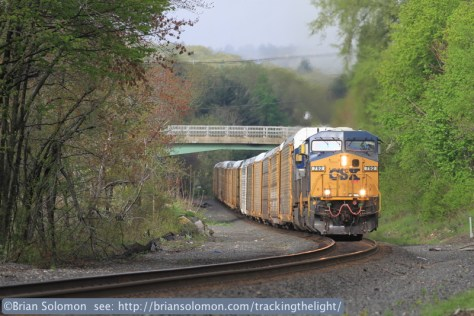 This sequence of photos was made at almost exactly the same location, but after CSXT performed undercutting work and brush cutting along the Boston & Albany route. These views were exposed on the morning of May 10, 2013.
