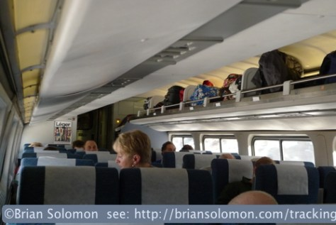 On board Amtrak number 56 The Vermonter, east of Penn-Station, New York. Lumix LX3 photo.