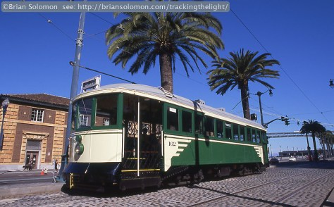 San Francisco streetcar before it was involved in a crash.