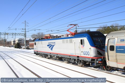 Canon EOS 7D with 20mm lens. Amtrak ACS 64 number 600.