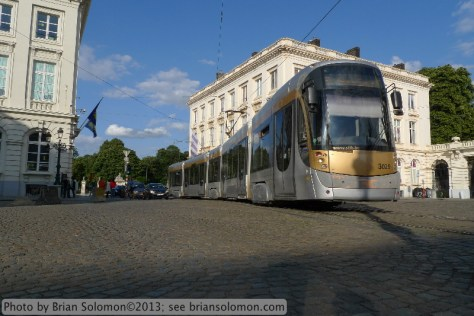 Tram in Brussels.