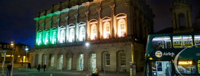 Heuston Station Lit For St Patrick's Day—Tracking the Light Daily Post