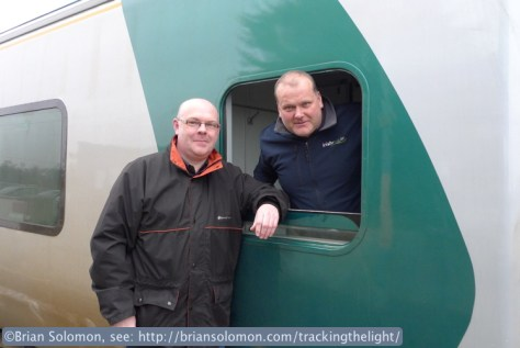 Noel Enright poses with the driver of my train.