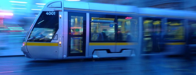 Trams in the Rain, March 21, 2014.