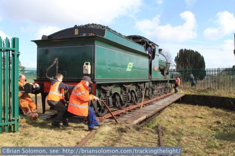 461 goes for spin on the turntable at Mullingar.