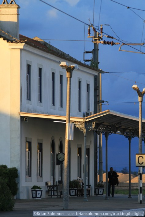 Evening light makes for a nice study of the class railway station. Canon EOS 7D photo.