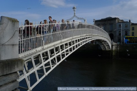 Ha' Penny Bridge over the Liffey.