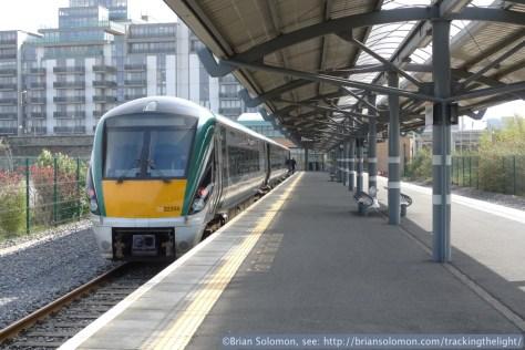 Irish Rail at Docklands Station, North Wall, Dublin. April 16, 2014.