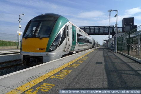 Irish Rail's InterCity Railcar at M3 Parkway station. Lumix LX3 photo.