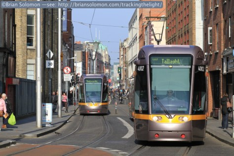 One last image before the LUAS tram whizzes by me.