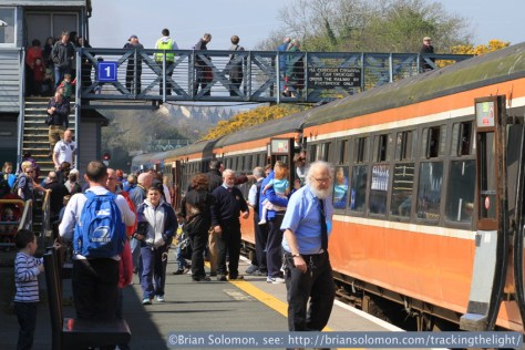 Passengers and RPSI staff at Wicklow. Canon EOS 7D with 100mm lens.