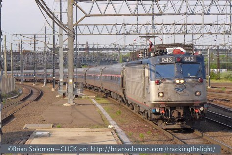 Amtrak 175 approaches New Haven. Lumix LX-7 photo. I found that the LX-7 reacts faster and cycles quicker than the older LX-3. This is especially useful in a situation like this one.